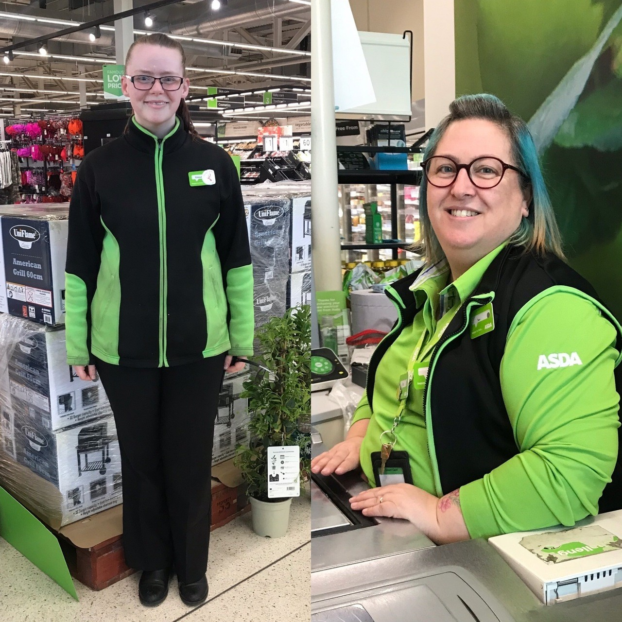 Emma and Sam go the extra mile in helping diabetic customer | Asda Frome