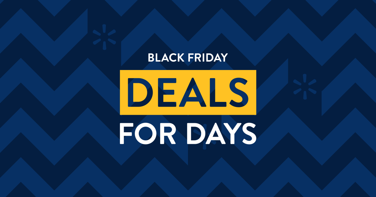 Walmart Announces Black Friday Deals For Days A Reinvented Black Friday Shopping Experience
