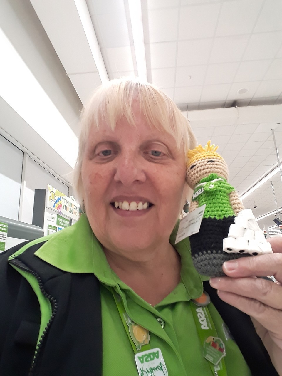 Knitting charity sent in a lovely hand-knitted doll | Asda Thornaby
