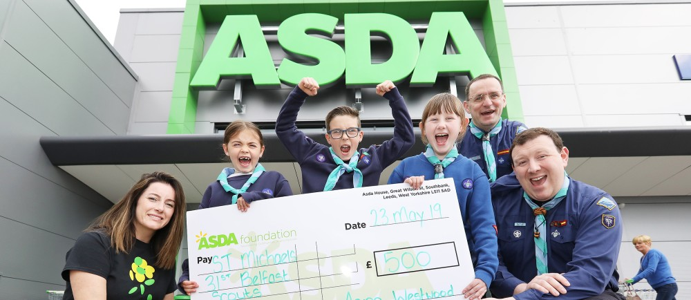 St Michael's 31st Scout group welcomes £500 Asda Foundation donation