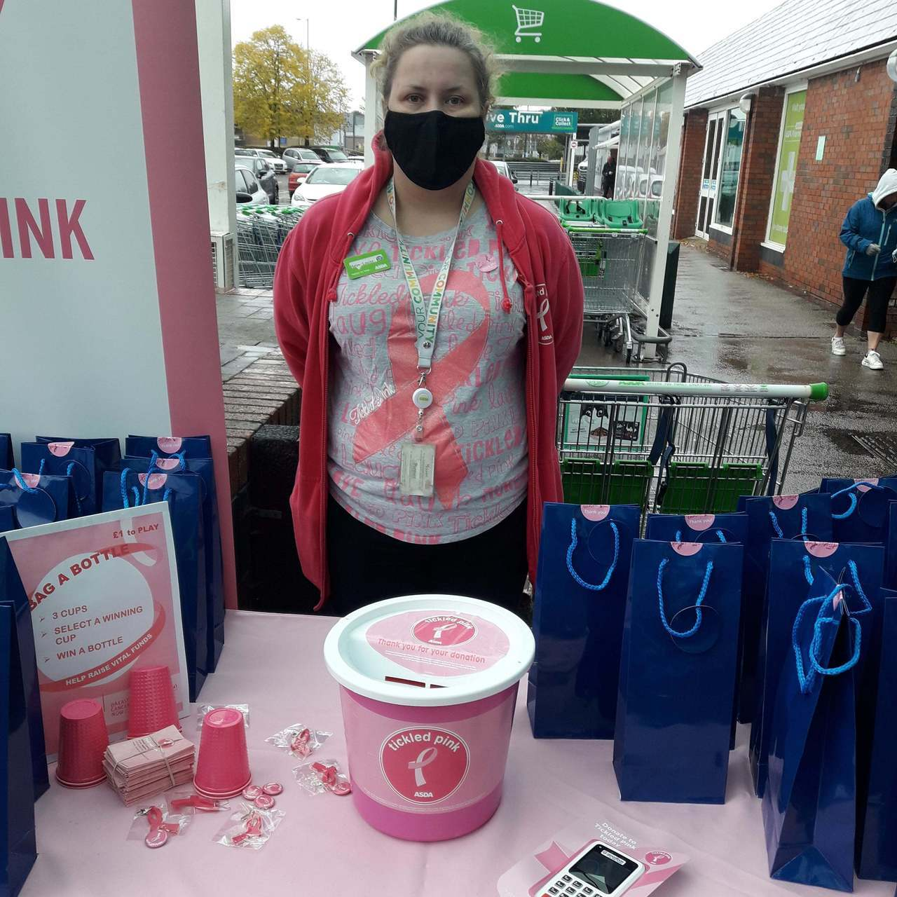 Supporting Tickled Pink | Asda Bromborough