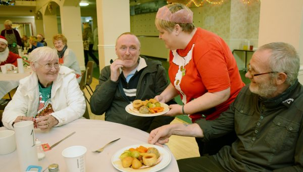 Asda Gosforth community champion Michelle Castledine at the Christmas lunch