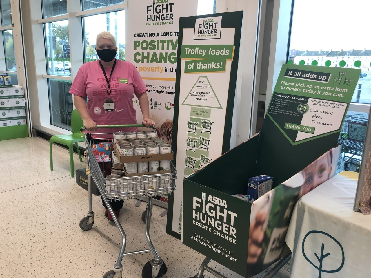 Craigavon Area Foodbank support | Asda Portadown