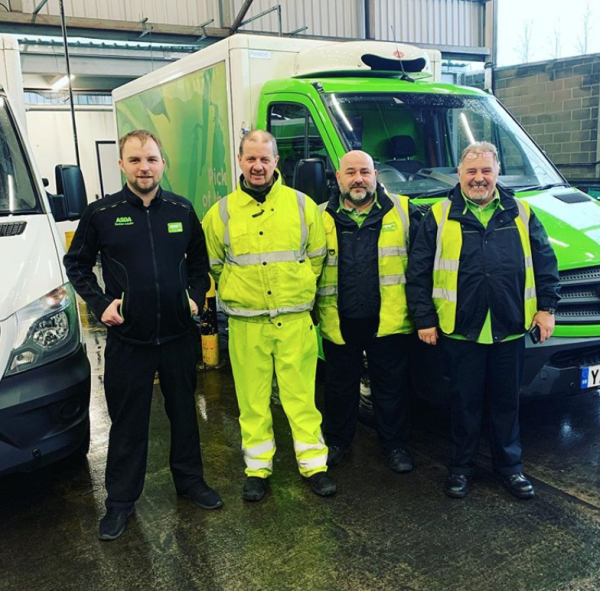 Asda Brynmawr delivery drivers defy floods from Storm Dennis