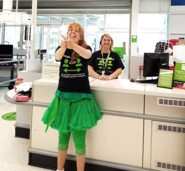 Lucy Conrad gives Asda Milton Keynes a big thumbs-up
