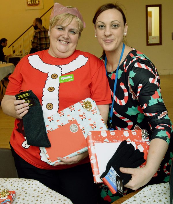 Asda Gosforth community champion Michelle Castledine with Emma