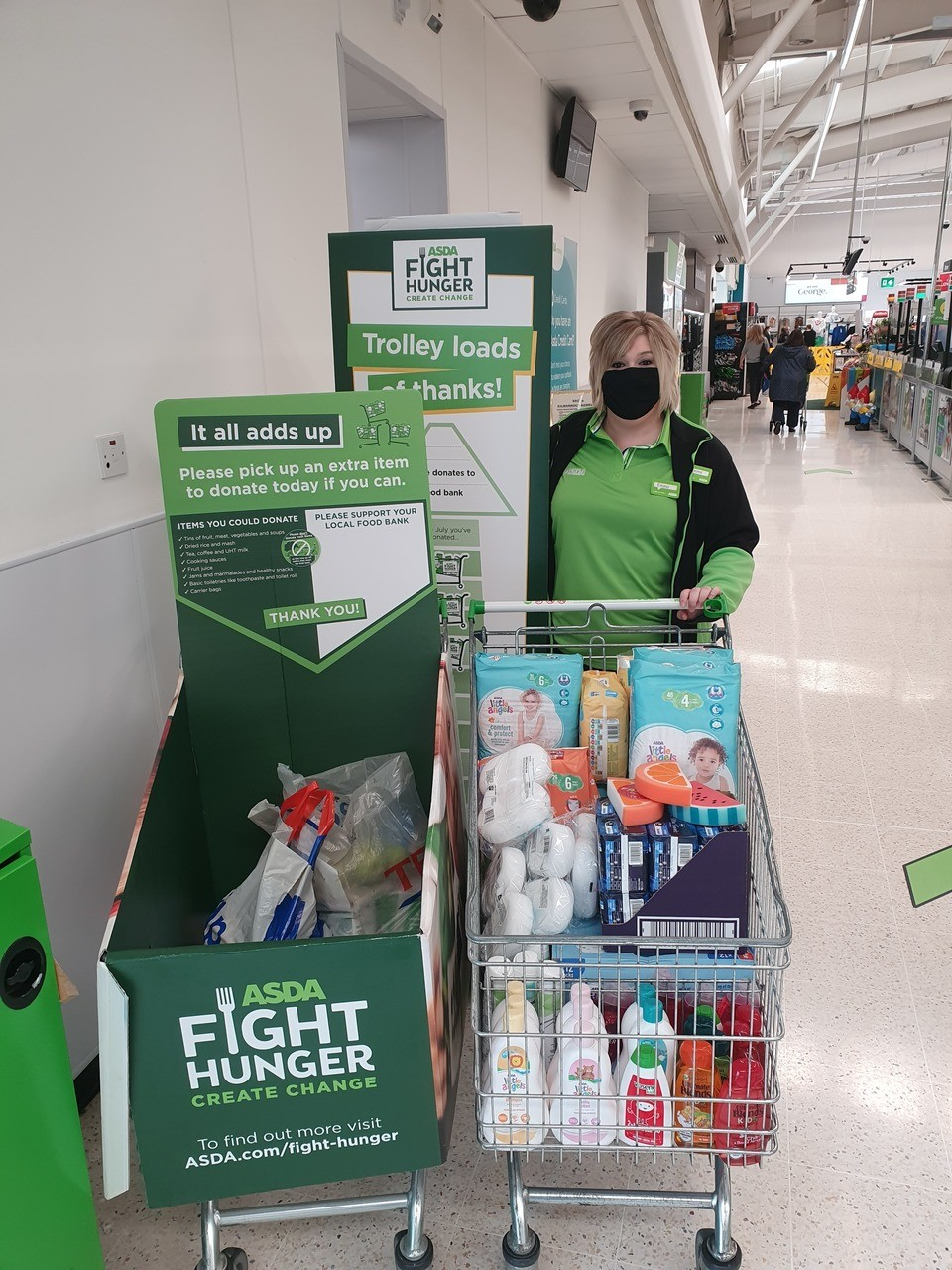 Local foodbank donation | Asda Kilmarnock