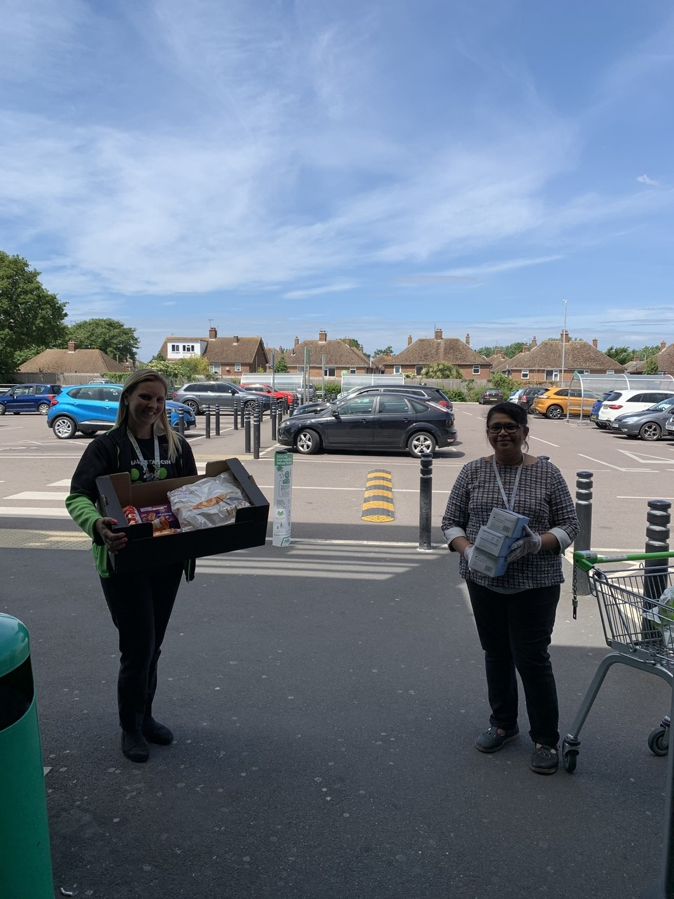 Donation to St Marks Residential Home | Asda Clacton-on-Sea
