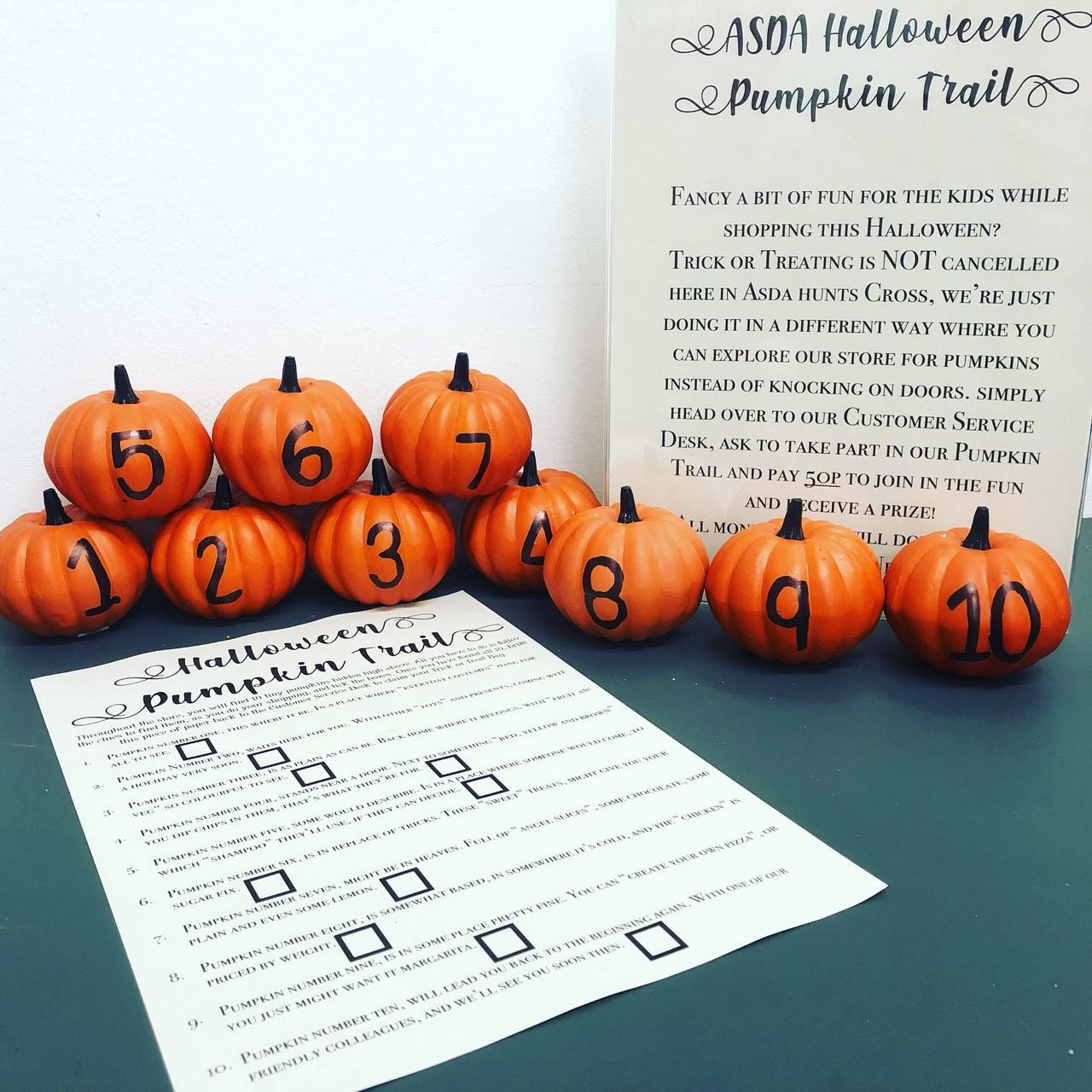 Halloween pumpkin Trail 👻🎃 | Asda Hunts Cross