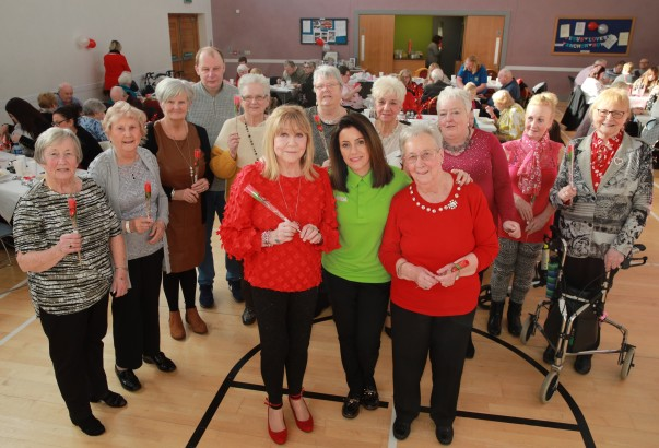 Noeleen McMahon from Asda Weswood organised a Valentine's Day party for members of Good Morning Colin