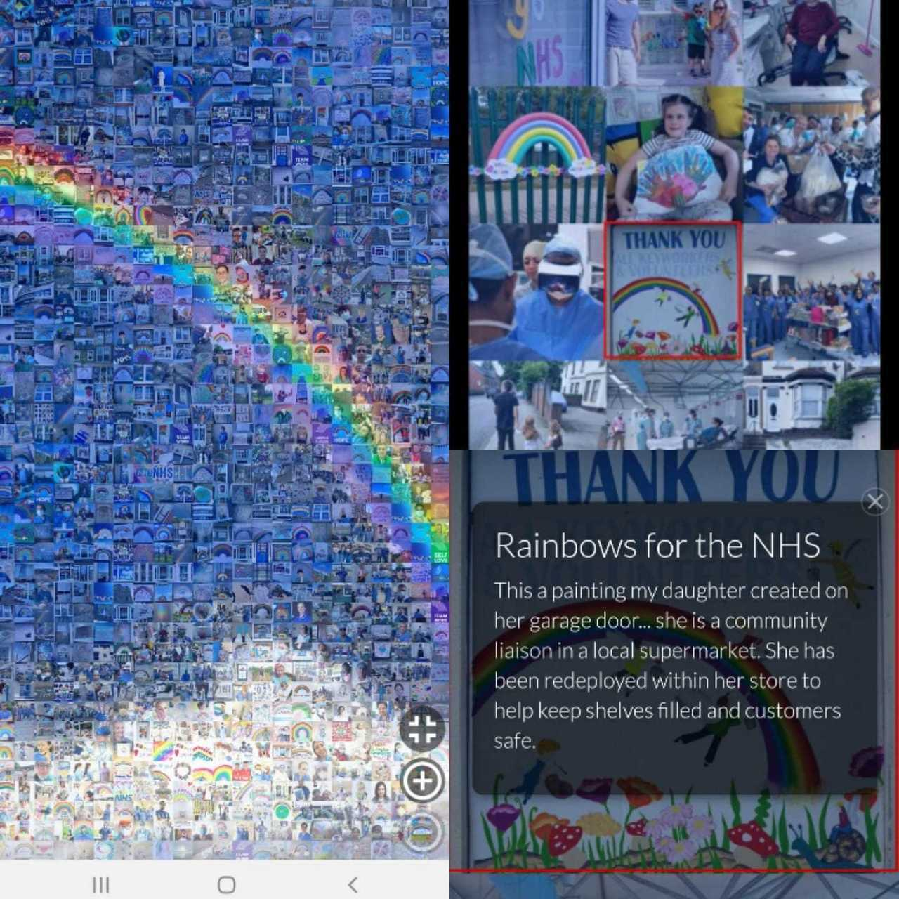 The Peoples Picture - Rainbow for the NHS  | Asda Bromborough