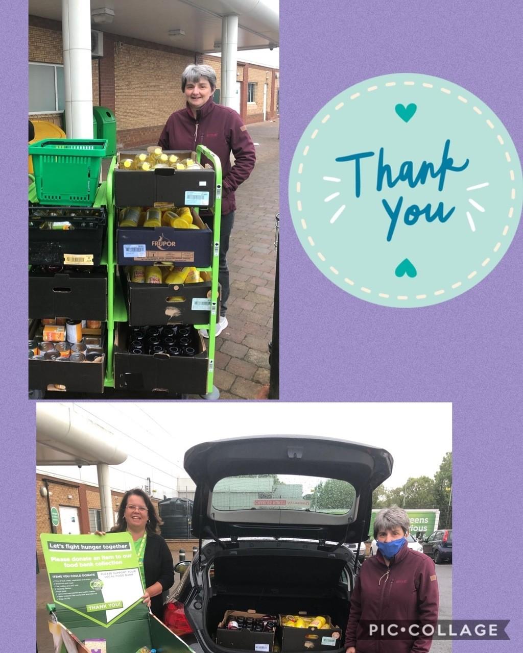 Donation to Fountain foodbank | Asda Downpatrick