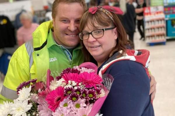 Sarah Dennison and Ian Armstrong Asda South Shields wedding