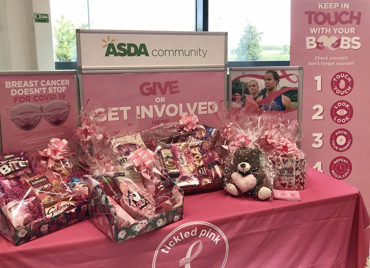 Ready for Tickled Pink fundraising!! | Asda Leicester Abbey Lane