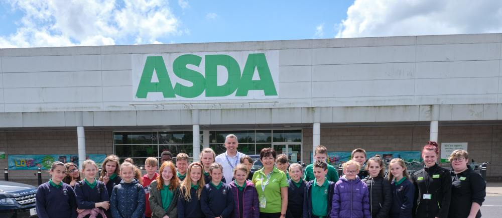 Pupils from Holy Trinity Primary School become plastic investigators for day at Asda Cookstown