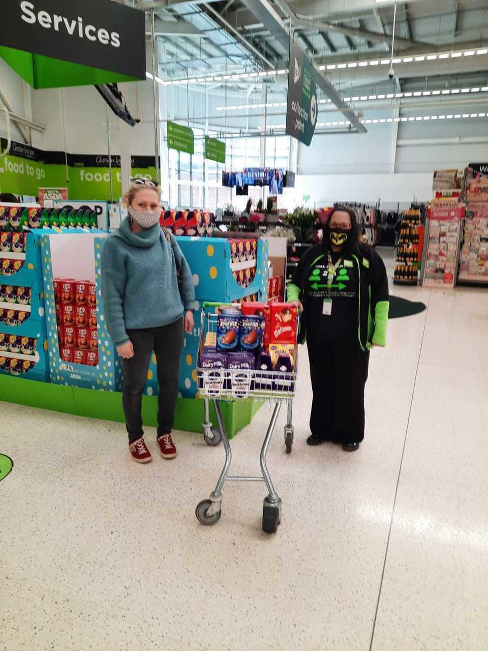 Easter egg donation to school   Asda Worcester