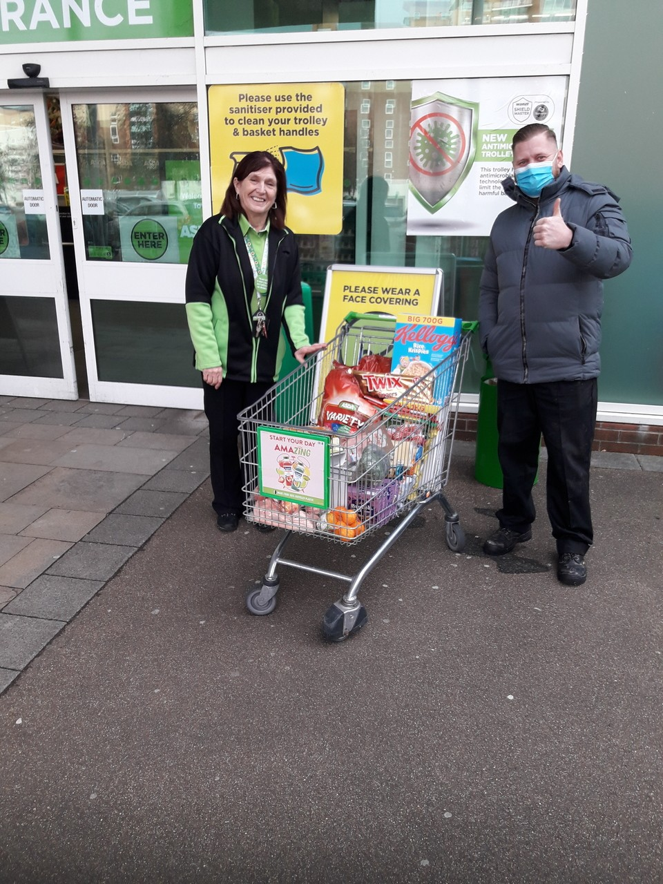 Donation for Potteries Care Home  | Asda Poole