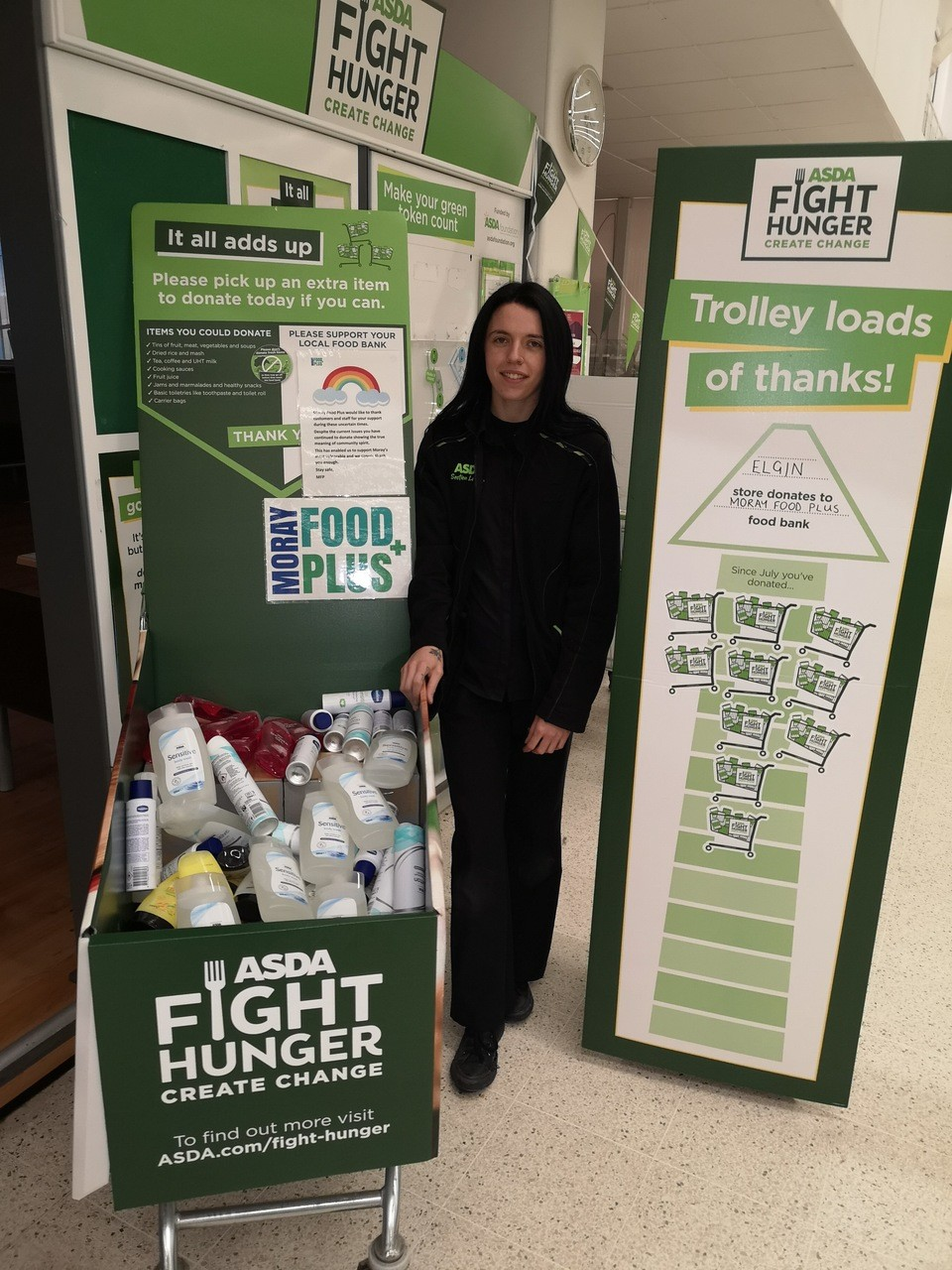 Moray food plus donation | Asda Elgin