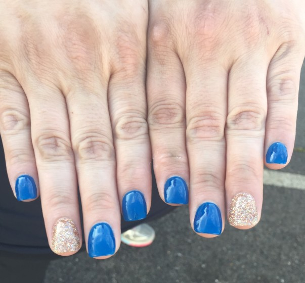 Associate Rita Wright's nail art from Shareholders 2018