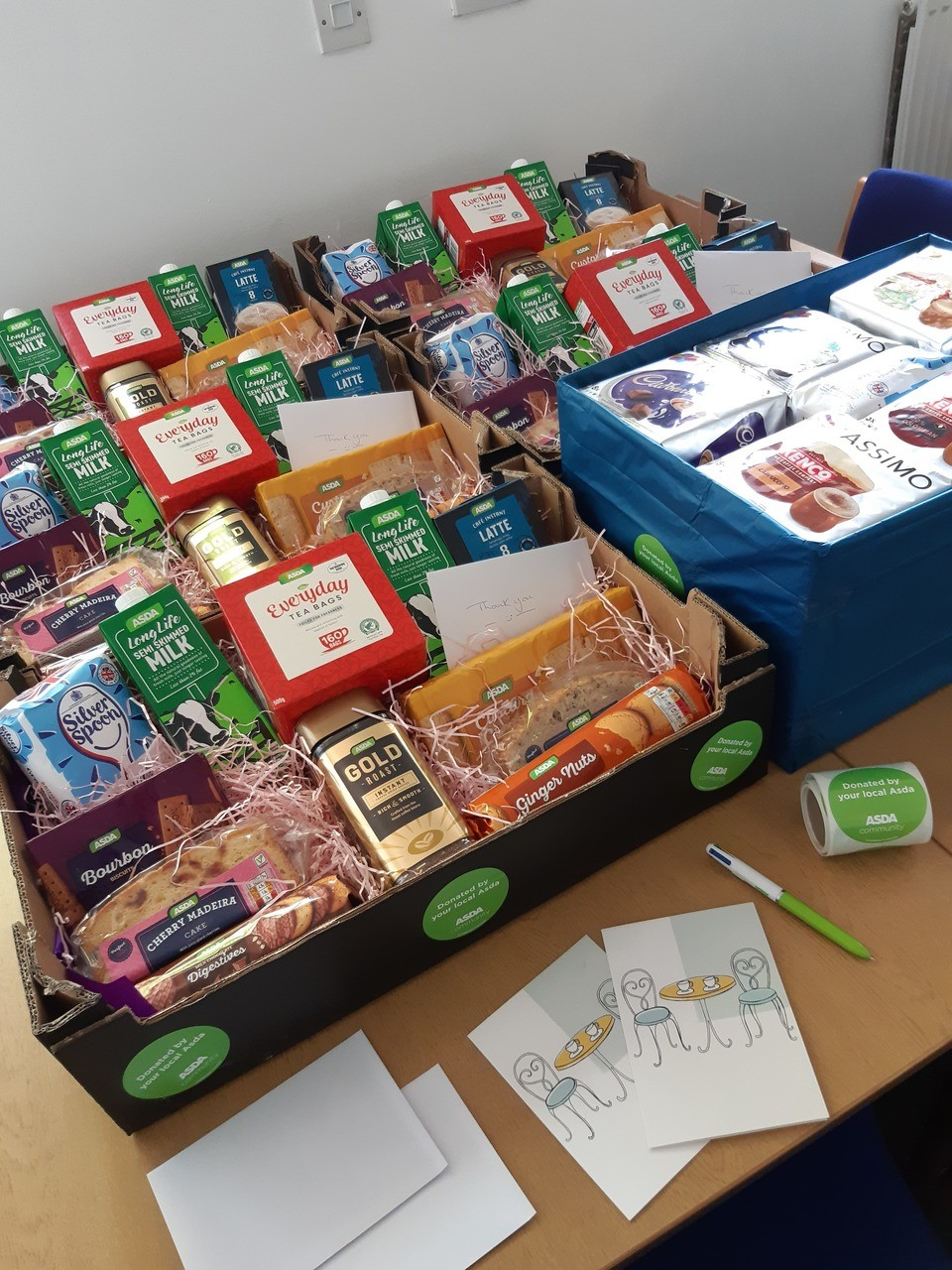Busy day 🤗 making up some 'Break time hampers' for some of our local unsung heroes plus coffee for our amazing NHS care workers 🥰  | Asda Norwich