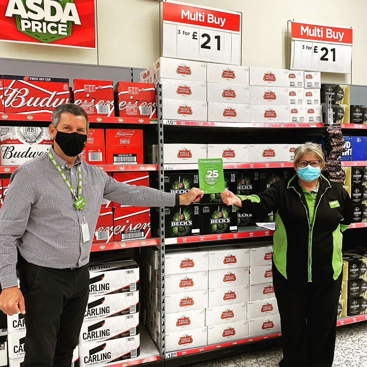 Jane marks 25 years of service   Asda Bedminster