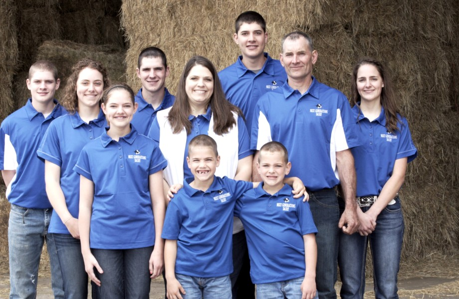 The Dirksen family are local farmers that supply milk to Walmart