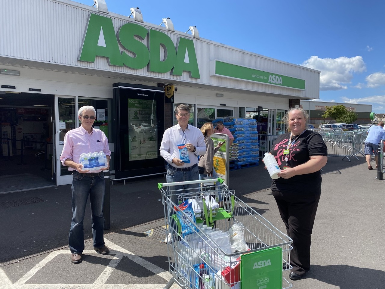 Next Step Group donation | Asda Gosport