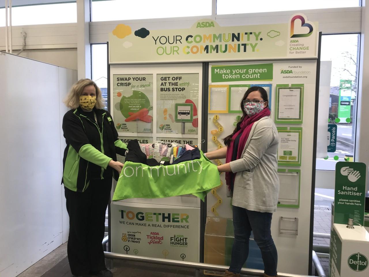 Shooting Stars Community Chest clothing donation | Asda Gillingham