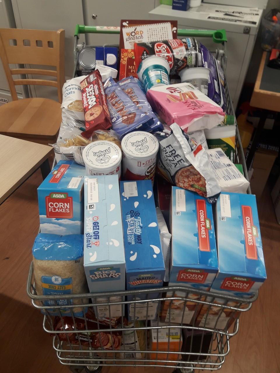 Foodbank donation | Asda Barry