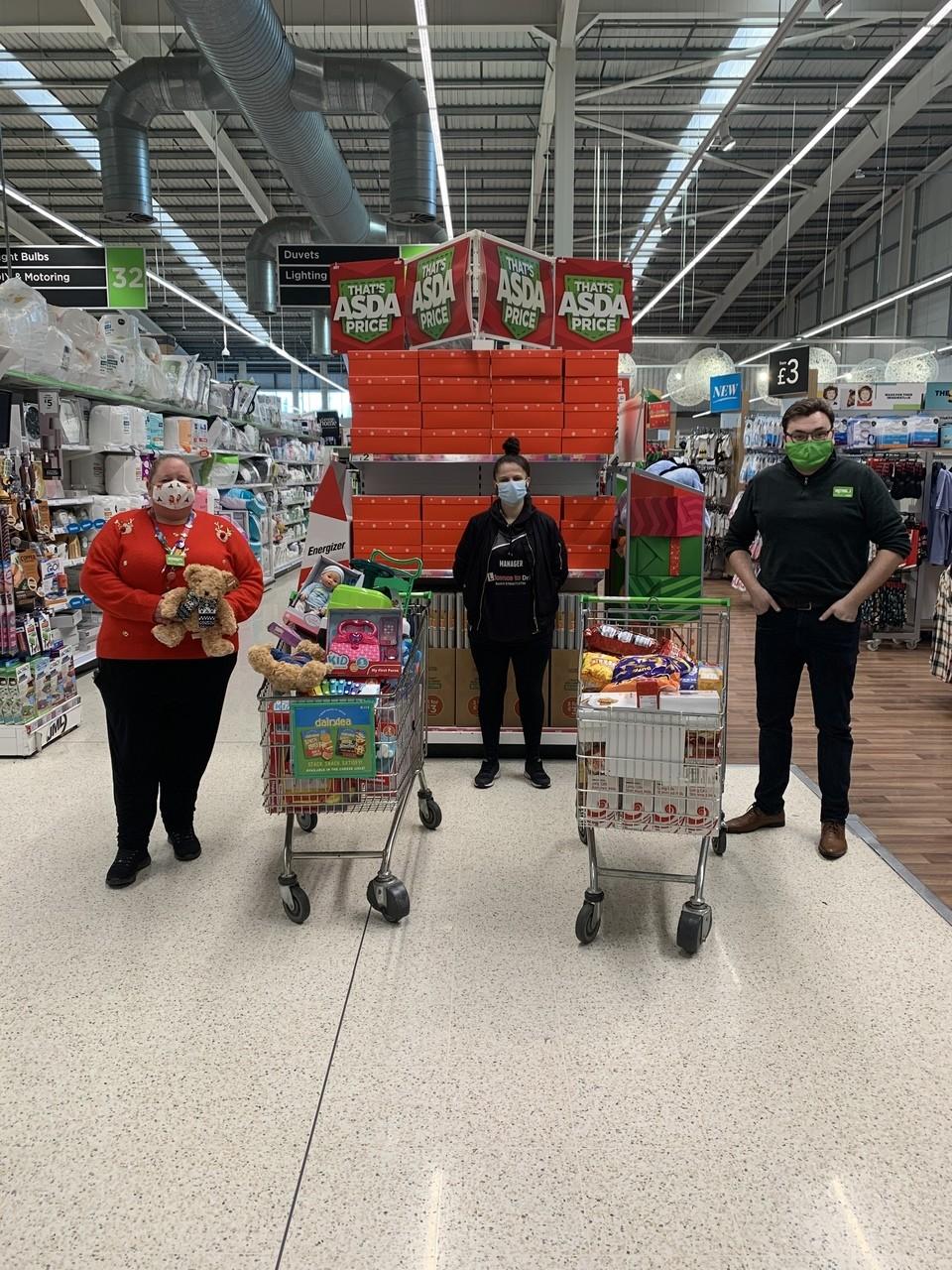 Christmas donation from Asda Dewsbury | Asda Dewsbury