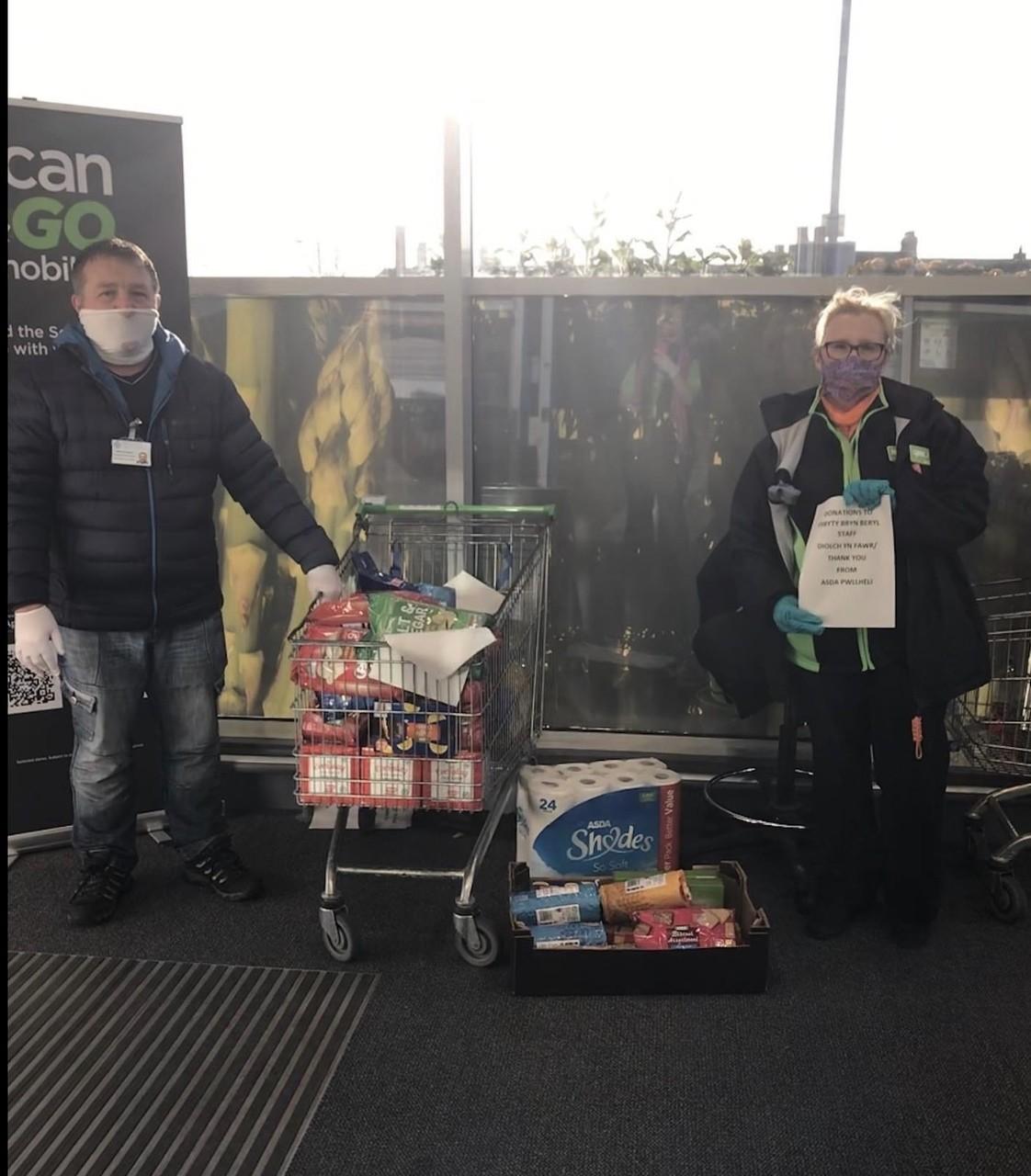 NHS donation | Asda Pwllheli