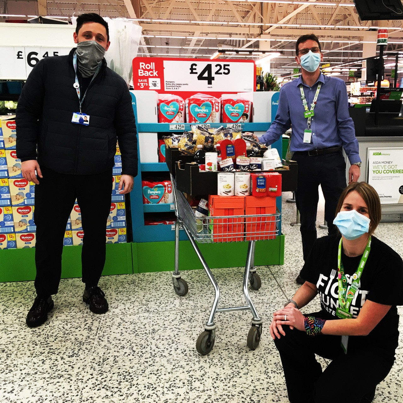 First donation of 2021 from Asda St Austell | Asda St Austell