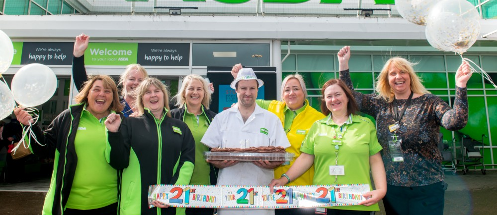 Long-serving colleagues help Asda Kilmarnock celebrate its 21st anniversary