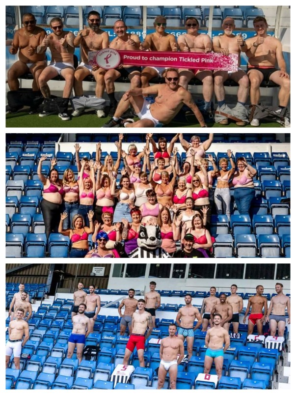 Asda Stafford team up with Stafford Rangers Football Club to support Tickled Pink