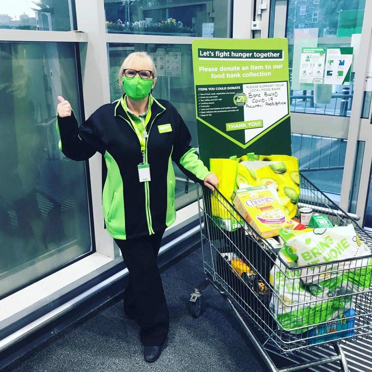 Donations to foodbank | Asda Pwllheli