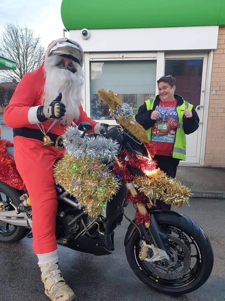 Santa visits our petrol colleagues  | Asda Derby
