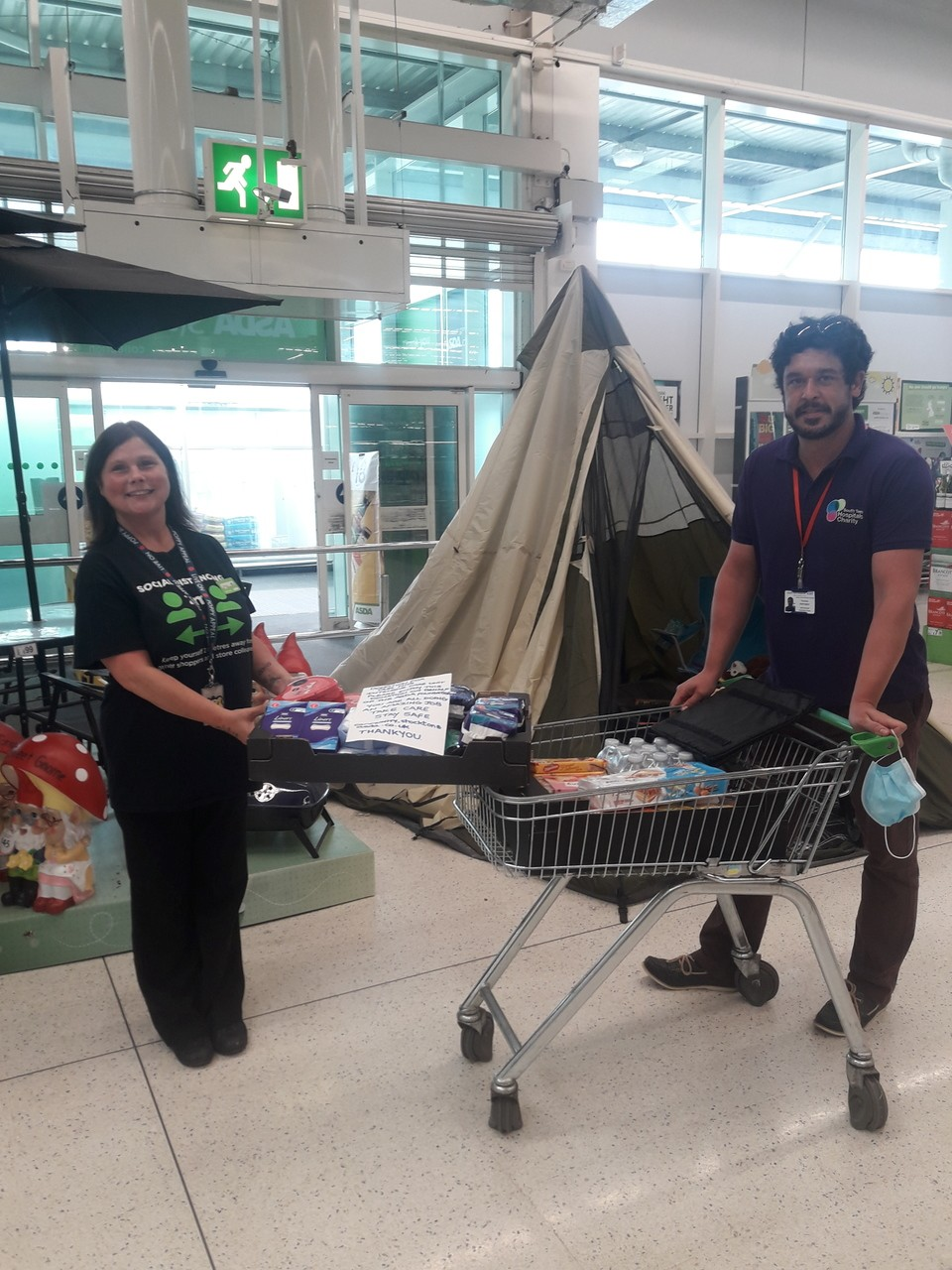 Donation to hardworking NHS staff | Asda Stockton