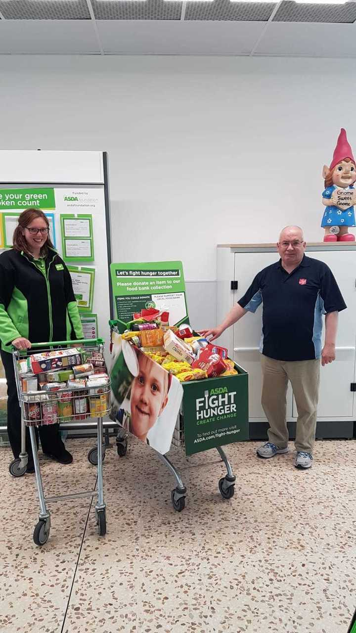 Donations to Salvation Army food bank | Asda Peterhead