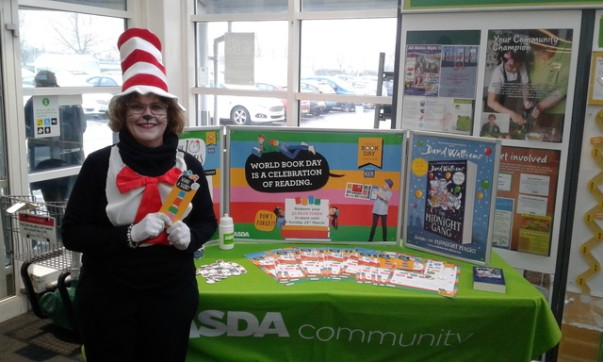 Clare Virgo from Asda Weston was the Cat In The Hat