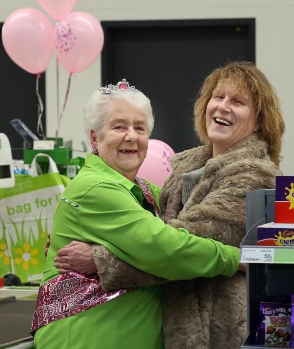 Sheila with customer Helen Keating