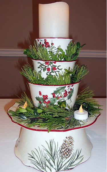 Blog image - candle tower with greenery