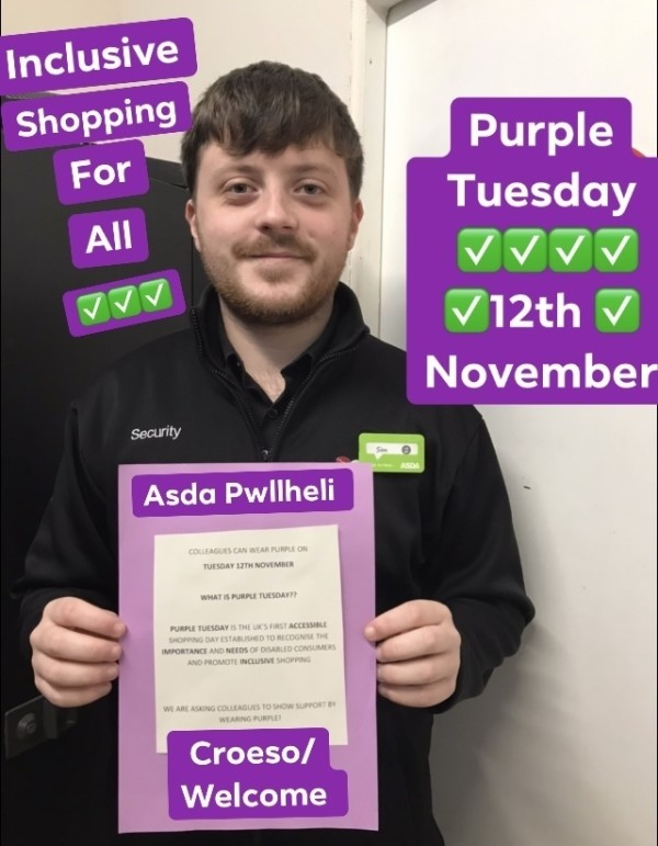 Purple Tuesday at Asda Pwllheli