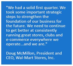 Walmart CEO Q1 Quote