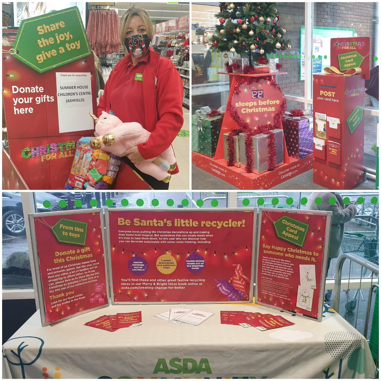 Christmas appeals up and running in store | Asda Sutton in Ashfield