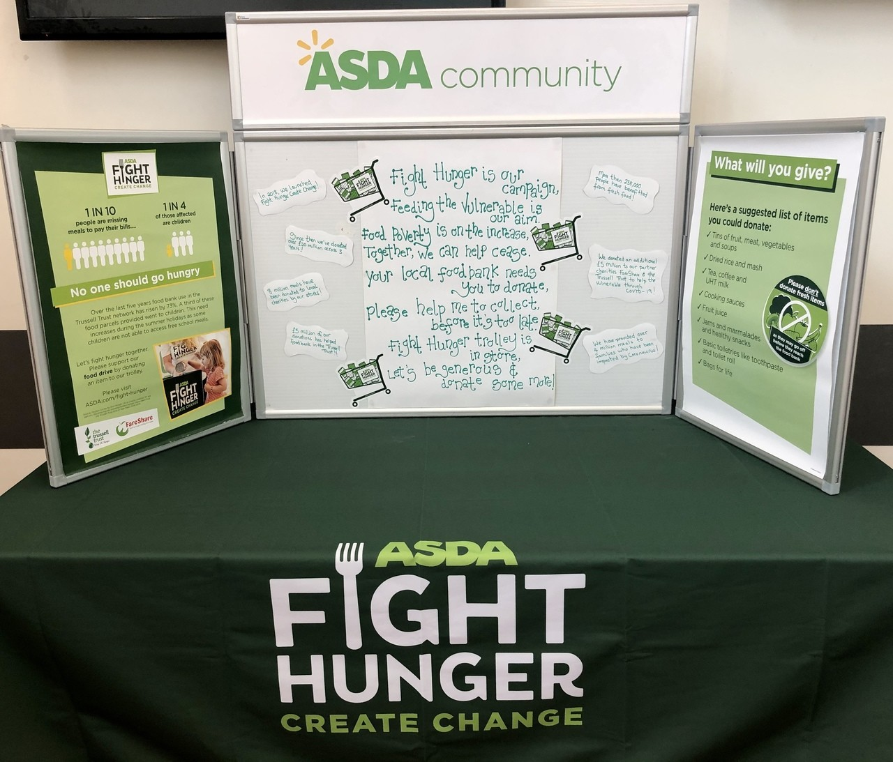 Fight Hunger Display! | Asda Leicester Abbey Lane