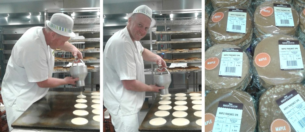 Darren and pancakes at Gosforth