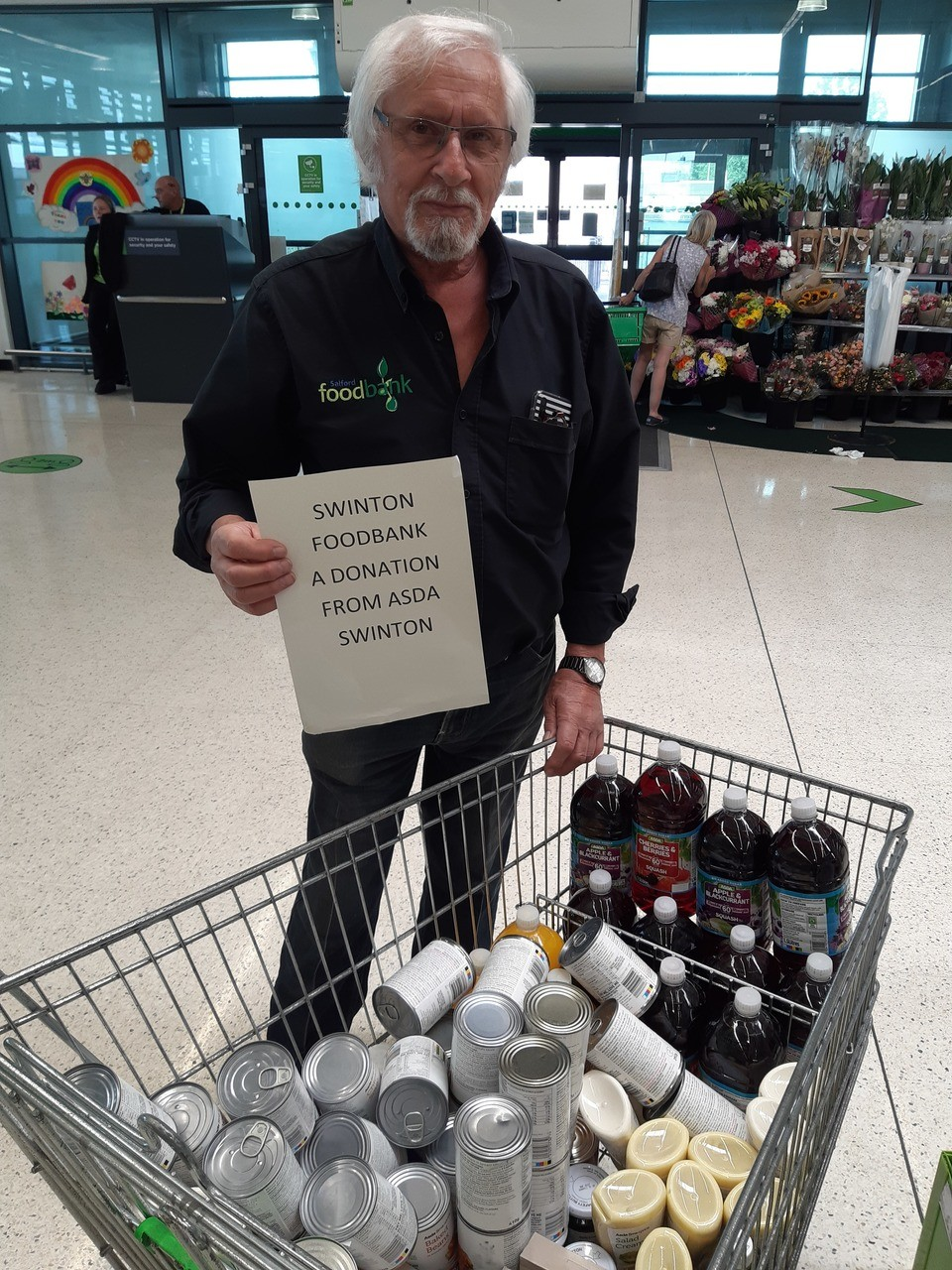 Donation for Swinton Foodbank | Asda Trafford Park