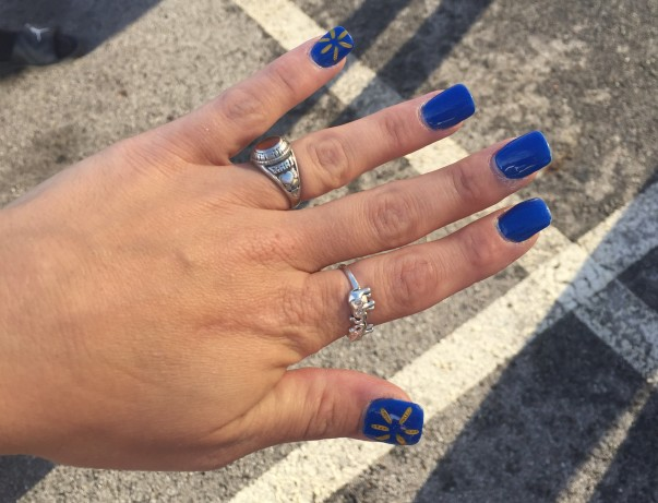 Associate Kari Bickel's nail art from Shareholders 2018