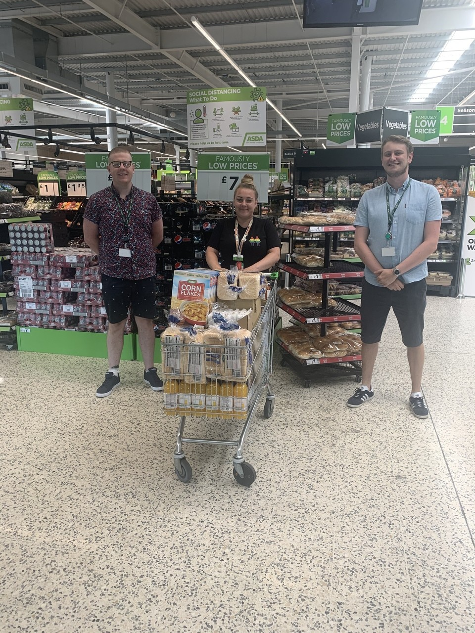 Stephen Longfellow Academy donation | Asda Middleton