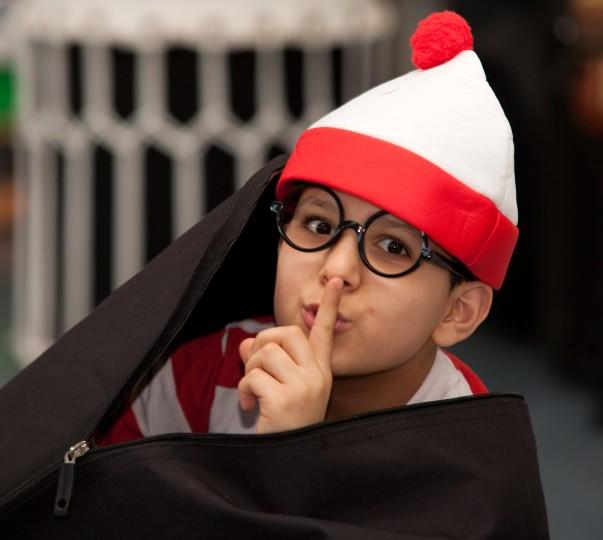 Pupil Haroun enjoys Elmfield School for Deaf Children's World Book Day activity